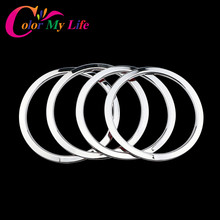 Color My Life Chrome Door Stereo Speaker Ring Cover Speaker Trim Sticker for Nissan X-trail X Trail Rogue T32 2014 2015 2016