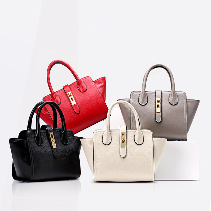 7512-D Europe and America New Fashion leather Handbag Trend layer dumplings Bag Lady Portable Shoulder Bag aetoo the new oil wax cow leather bags real leather bag fashion in europe and america big capacity of the bag