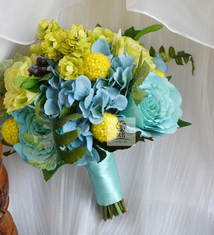 Silk Wedding Flower Wedding Bridal Bouquets Bride Hold Flower