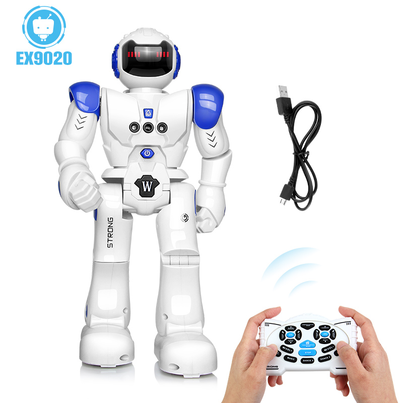 DODOELEPHANT Robot USB Charging Dancing Gesture Action Figure Control RC Robot Toy for Boys Children Kids Birthday Gift Present 25 40 size usb charging basket led children shoes with light up kids casual boys