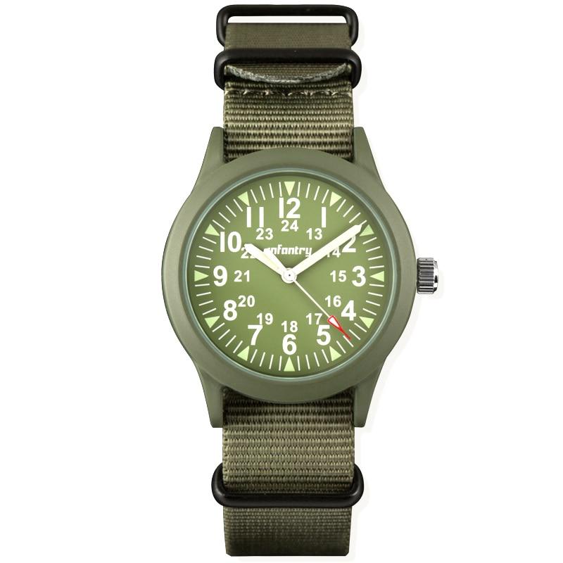 INFANTRY Relojes Hattori Japón reloj de cuarzo para hombre reloj - Relojes para hombres - foto 4