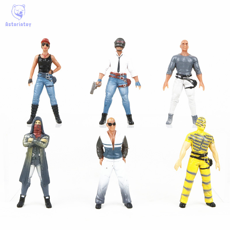 Game Playerunknowns Battlegrounds Eat Chicken Action Figure Toys 9cm PUBG Characters Dol ...