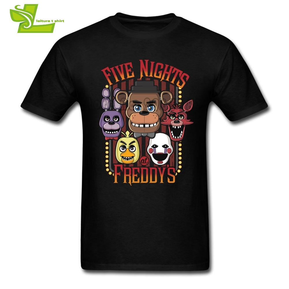 Five Nights At Freddy Adult T Shirt Leisure Summer Tops Men Short Sleeve Round Neck Tshirt Dad Latest Simple Clothing