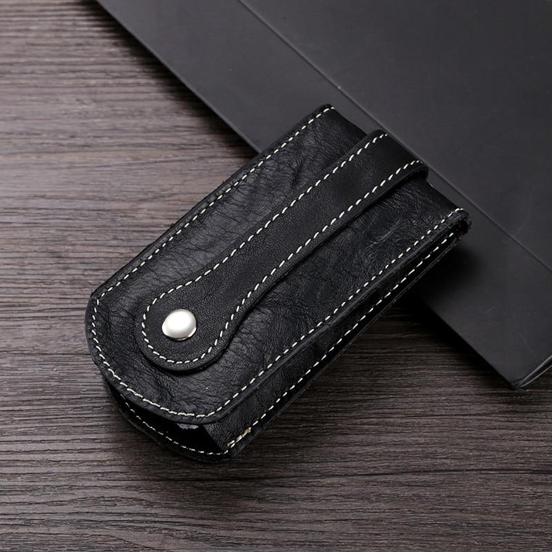 Top brand New arrival Genuine leather Men key holder organizer car keys wallets women vintage mini car key case housekeeper soft