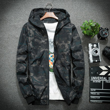 Summer Wind Jacket Camo Windbreakers Lightweight Jackets Camouflage Hooded Coats Bomber Men
