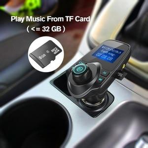Image 3 - Car Bluetooth Wireless Mp3 Player Handsfree Car Kit FM Transmitter 5V 2.1A USB Charger LCD Display Car FM Modulator
