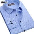 Los Hombres de la marca Camisa de Manga Larga Camisa de Vestir Informal Camisa A Rayas de Los Hombres Camisa Masculina Ropa de Los Hombres Camisas Hombres 4xl Nuevo 2017
