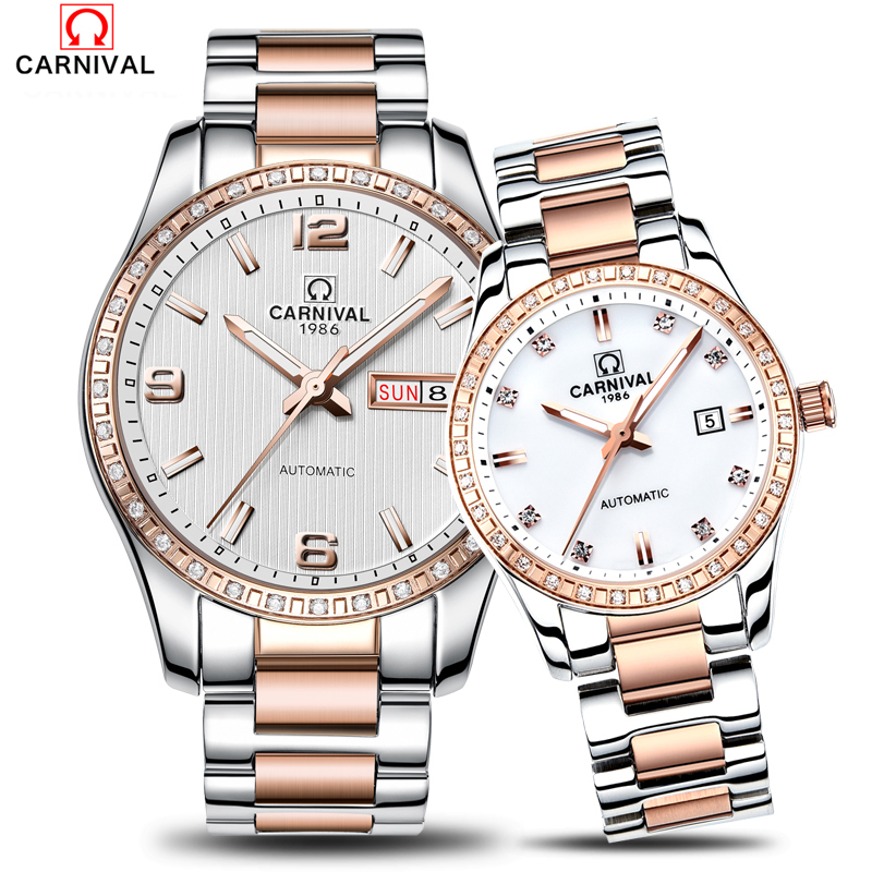 2018Carnival Popular Watch Men Women Automatic Mechanical Wristwatch Skeleton Couple Male Clock Ladies Relogio Masculino Montre ik coloring bridge analog display mechanical male clock automatic wristwatch golden bezel skeleton watches relogio masculino