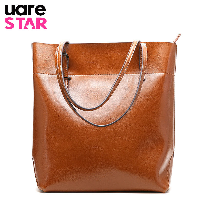 2018 genuine leather totes for women big size casual tote cow leather women s shoulder bags
