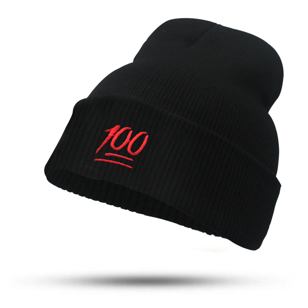 2017 Fashion Solid 100 Points Hats for Women Girls Men Knitted Hat Females Black Autumn Winter Beanies Bonnet Skullies Caps aetrue winter knitted hat beanie men scarf skullies beanies winter hats for women men caps gorras bonnet mask brand hats 2018