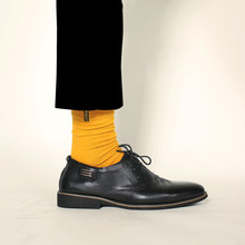 7 Pairs / Lot Cotton Solid Men Happy Socks Anti-Bacterial Comfortable Deodorant Casual Boys Socks Fashion Candy Color Week Socks