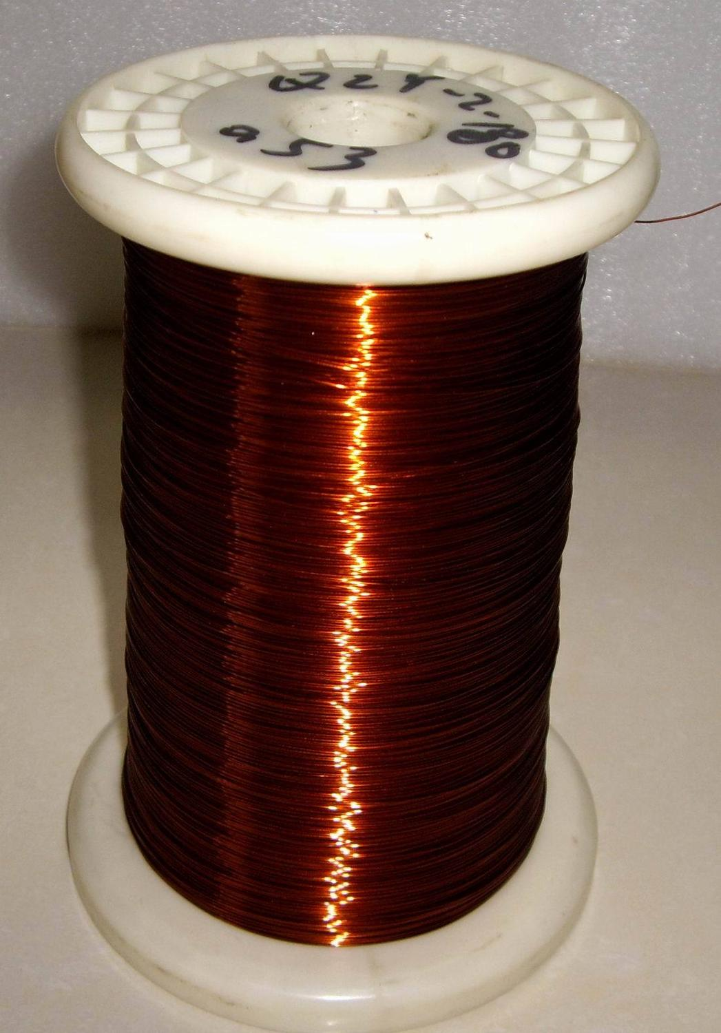 100meters/lot 0.53mm Mm QZY High-temperature Enameled Wire Enamelled Round Copper Wire, QZY-2-180 Temperature Of 180 Degrees Cel