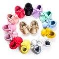 Nueva Moda Bebé Recién Nacido niñas Mocasines arco zapatos de cuero de LA PU Primeros Caminante Niños Zapatos de Suela Blanda antideslizante zapatos