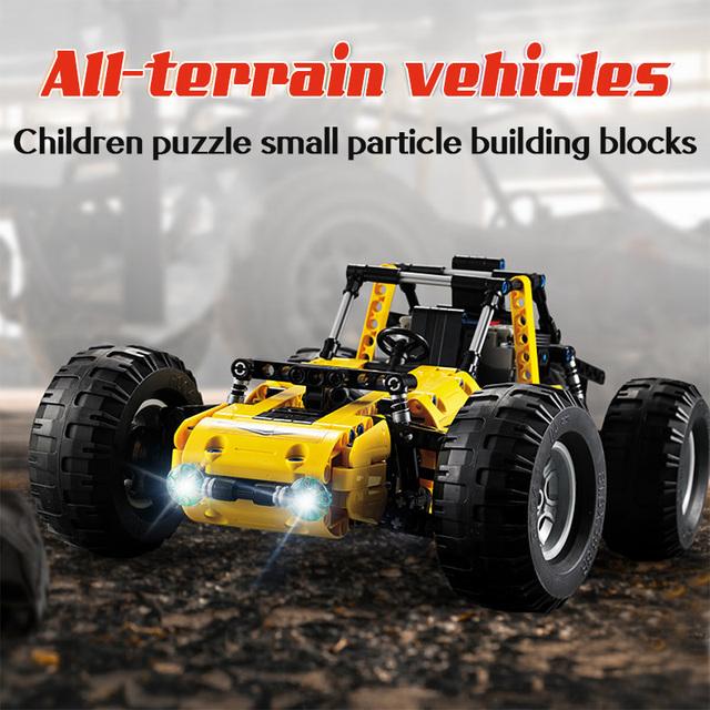 522pcs Remote Control All Terrain Off-Road Climbing Trucks Car Off-Road Building Blocks Technic City RC Bricks Toys