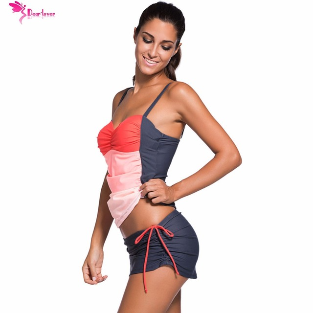Push-Up Tankini with Skort Bottom