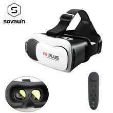 """Vr коробка 2.0 3.0 VR плюс стеклянные линзы 3D очки виртуальной реальности Гарнитура 360 Google картонный шлем видео обновление для 4-6 """"телефон"""