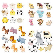 Set of Patch Iron-on Clothes Cute Animal Bear Patch for Clothing Sticker DIY T-shirt Accessory Heat Transfer Washable Badges E цена и фото