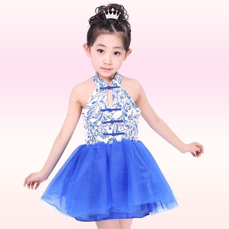 09df5122d6282 Koro Dans Elbise çocuk Performans Giyim Latin Balo Salonu Dans Elbise