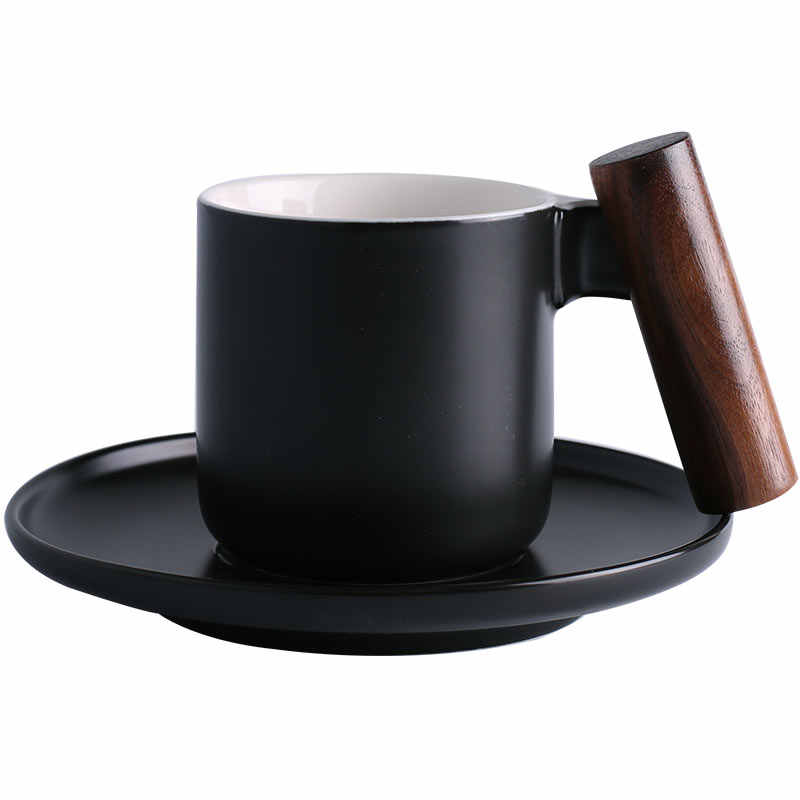 Cup And Handle Teapot Coffee Color Wooden With Mug Saucers Cool Emotional B Appeal Of Cups 94 Ceramic Small Endowment 9EIDH2YeW