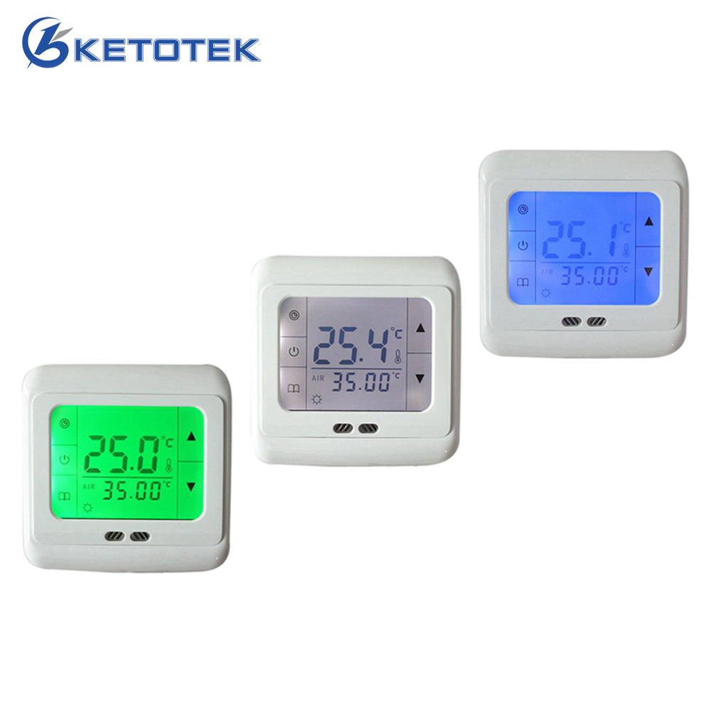 все цены на 16A Digital Touch Screen Floor Heating Thermostat Room Warm Temperature Controller Auto Control with LCD Backlight Free Shipping онлайн