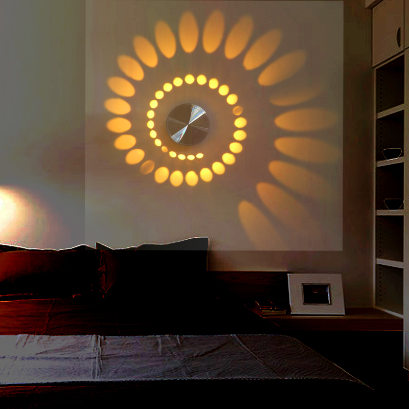 Latest Wall Lamp Design : New Design LED Modern Light Aluminum Wall Lamp Novelty 3W Projection Lamp For Home Decoration ...