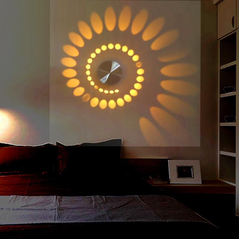 New Design LED Modern Light Aluminum Wall Lamp Novelty 3W