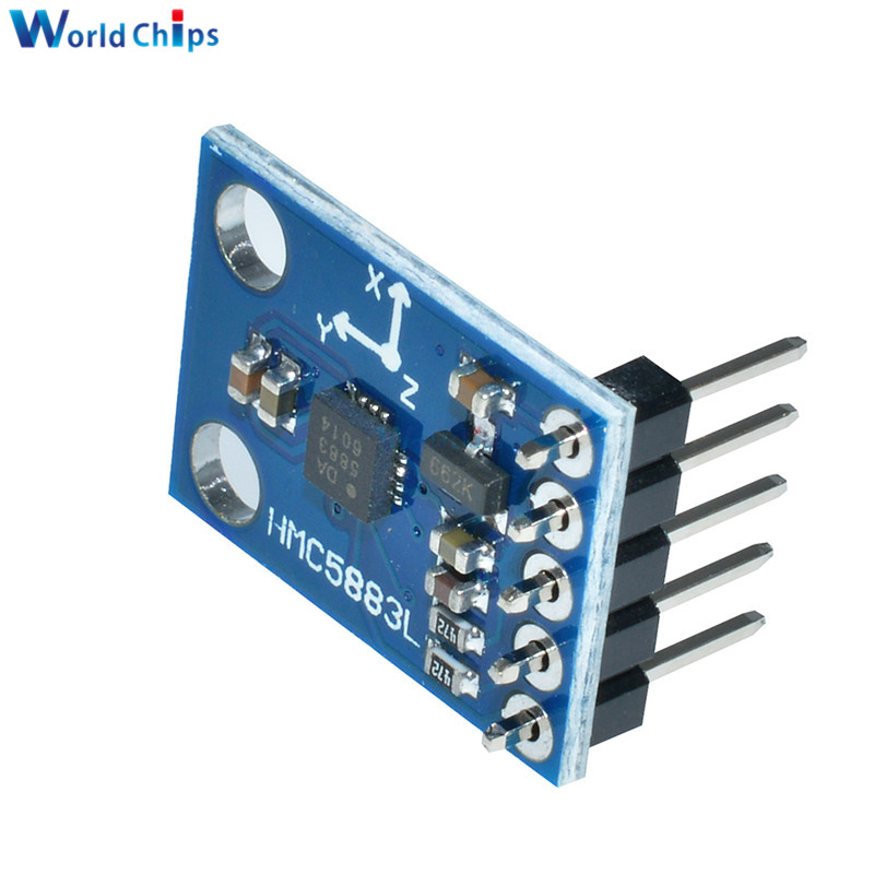 Image 5 - GY 273 3V 5V HMC5883L Triple Axis Compass Magnetometer Sensor Module Three Axis Magnetic Field Module For Arduino-in Integrated Circuits from Electronic Components & Supplies