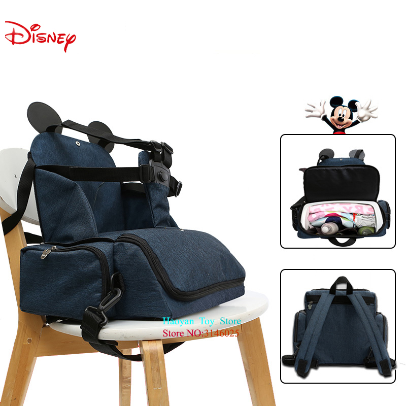 Disney Mummy Bag Large Capacity Double Shoulder Travel Backpack Baby Multifunction Handbag Bottle Bag Fashion Insulation