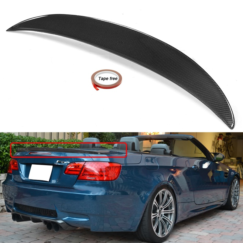 Carbon Fiber Rear Trunk Lid Spoiler For BMW E93 325i 328i 335i M3 2006-2013 for bmw e36 318i 323i 325i 328i m3 carbon fiber headlight eyebrows eyelids 1992 1998