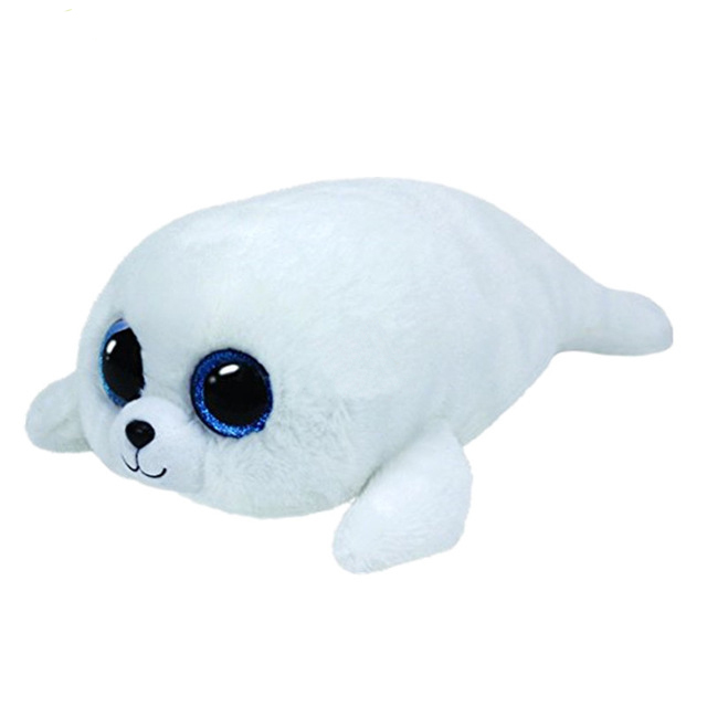 Ty Beanie Boos 6 15cm White Dolphin Plush Regular Stuffed Animal