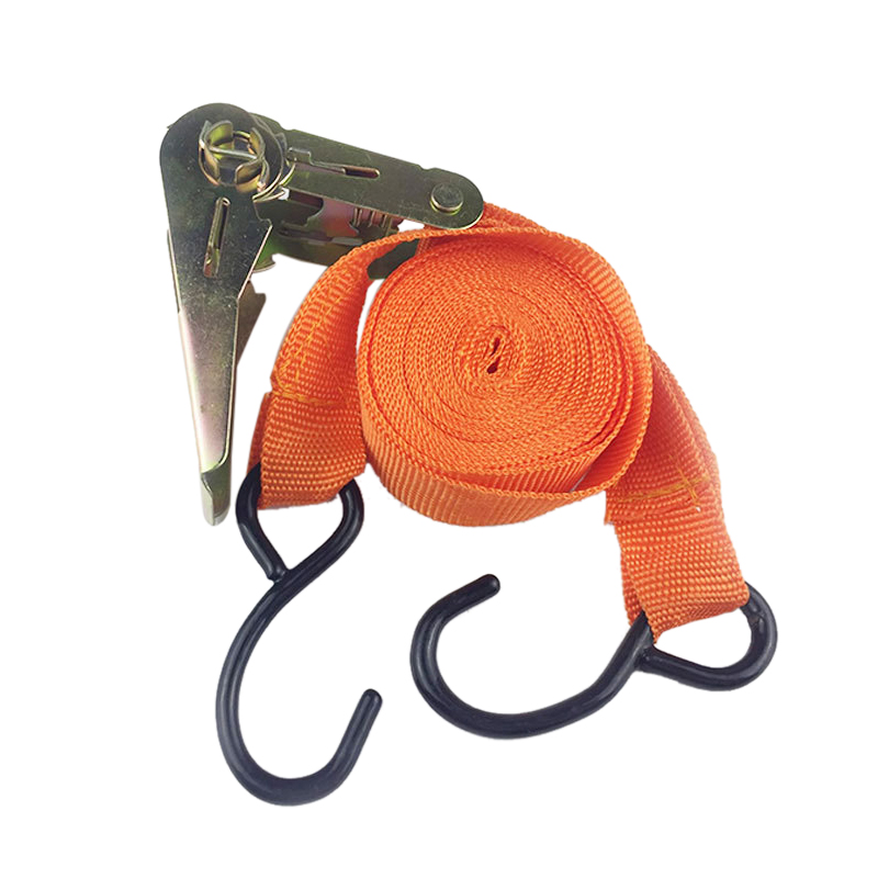 Urijk 2Pcs Ratchet Tie Down Cargo Straps Belt Lashing Package Webbing Hold Secure Moving Truck Motorcycle Car Tension Rope