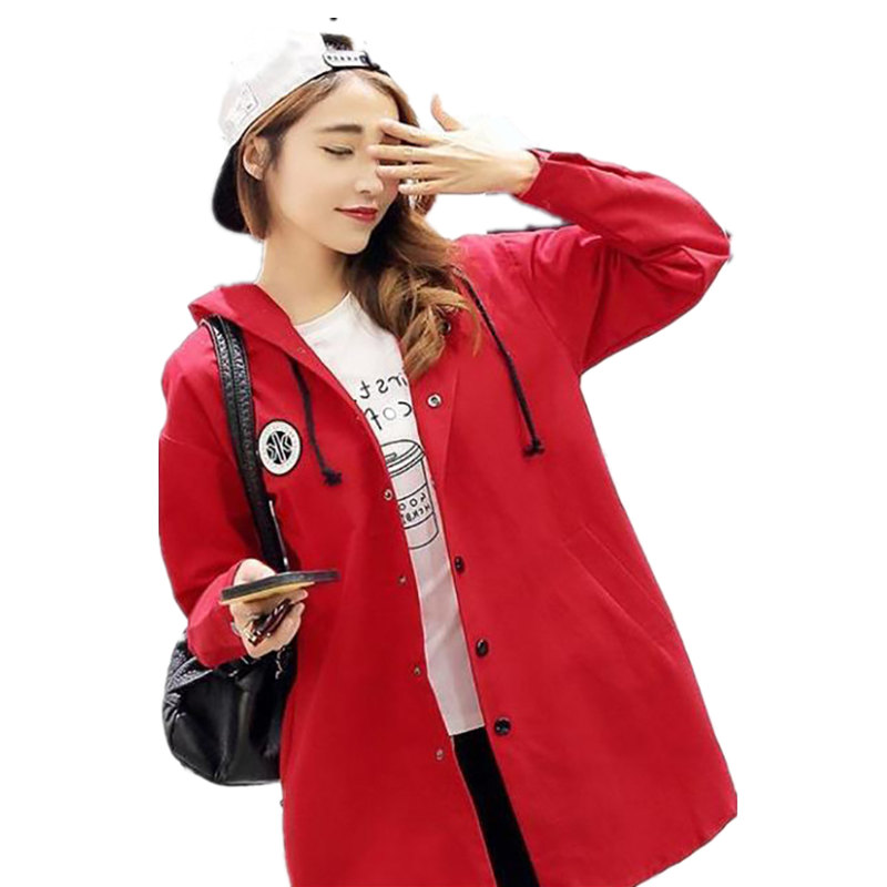 2017 High Quality Spring New Casual Womens Fashion Single-breasted Windbreaker Long Autumn Trench Coat Full Sleeve For Ladies