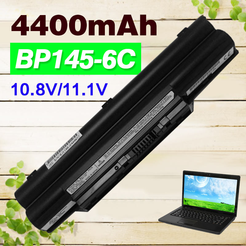 Apexway 4400 mah 10.8 v batterie d'ordinateur portable pour Fujitsu biblo MG50S MG55U MG55S MG75SN FMVNBP146 FPCBP145 FPCBP145AP S8250 S2210 S7111