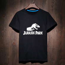 Harajuku Black White Woman Jurassic Park T-shirt Geek T Shirt Woman Tee Street Wear Womens Letter Print Tshirt Cute Anime