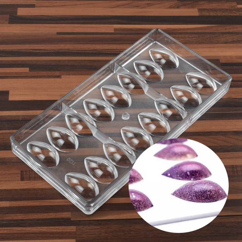 Olive Fruit Drop Water Lemon Lotus Shape Pc Polycarbonate Chocolate Mold Candy Fondant Mould Ice