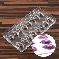 Olive Fruit Drop Water Lemon Shape PC Polycarbonate Chocolate Mold Candy Fondant Mould Ice Cube Jelly