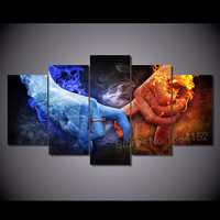Icon Diamond Painting Love hand flame 5D Cross Stitch Embroidery Mosaic Crystal Square Drill DIY Sticker Decoration 5pcs