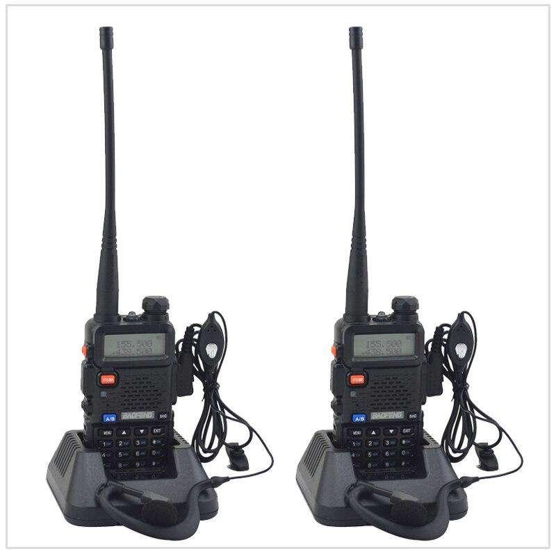 2 PCS/Lot baofeng bibande UV-5R talkie walkie radio double affichage 136-174/400-520 mHZ radio bidirectionnelle avec écouteur libre BF-UV5R