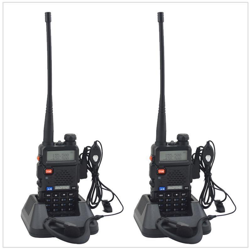 2PCS/Lot baofeng dualband UV-5R walkie talkie radio dual display 136-174/400-520mHZ two way radio with free earpiece BF-UV5R