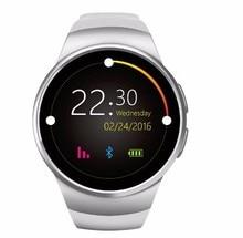 KW18 Smartwatch für iphone android phone pulsmesser Und Reloj Inteligente SIM Runde Herzfrequenzmesser Uhren