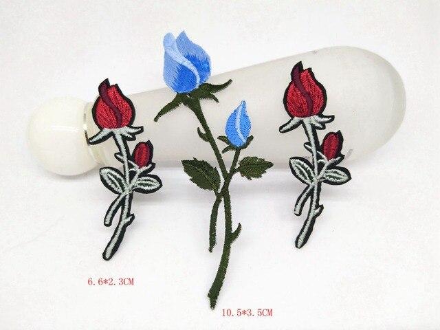 Mix pcs applique fiori ricamati ferro sulla patch per
