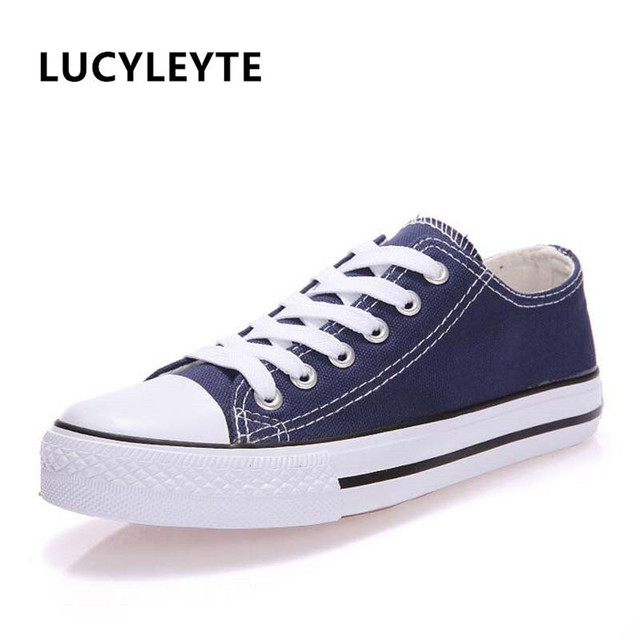 Canvas Shoes Fashion Solid Color Women Vulcanized Shoes Lace-up Casual White Couple Shoes Woman Sneakers Zapatos Tenis Feminino