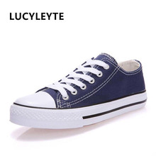 Canvas Shoes Fashion Solid Color Women Vulcanized