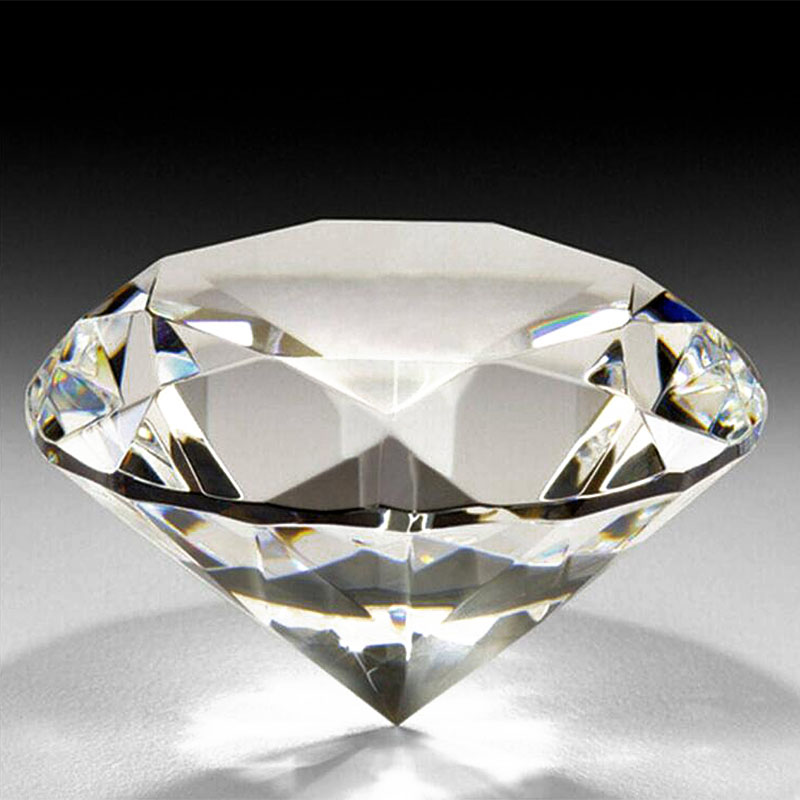 30mm Transparent Crystal Glass Diamond Paperweight Glas Craft - Heminredning