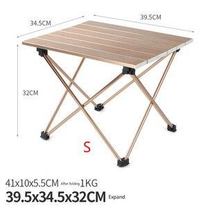 Image 5 - Açık Kamp Taşınabilir Ve Kolay Tel çizim masası Alüminyum Alaşım Katlanır Masa Barbekü Masa Piknik masa lambası Kafein