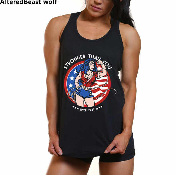 b19d7b322c332 Detail Feedback Questions about 2018 Summer Women Tank Tops Casual Lady  Workout Fitness Wonder Woman Print Lift Loose Sleeveless Vest Girls Singlet  Tees on ...