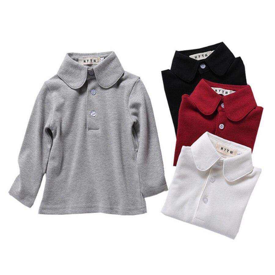 Baby Kids Clothes 100 Cotton Polo Shirts Pure Color School Uniform