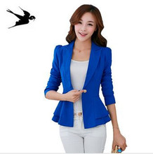Floor Qrice ! Jacket Blazer Women Suit Foldable Long Sleeves Lapel Coat Candy Color Blazer Single Button Vogue Blazers Jackets