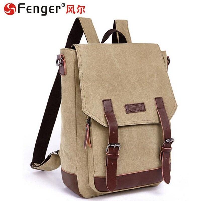 ФОТО fashion schoolbags Multifunction Male canvas backpack double shoulder Large travel bag sac a main mochila monederos