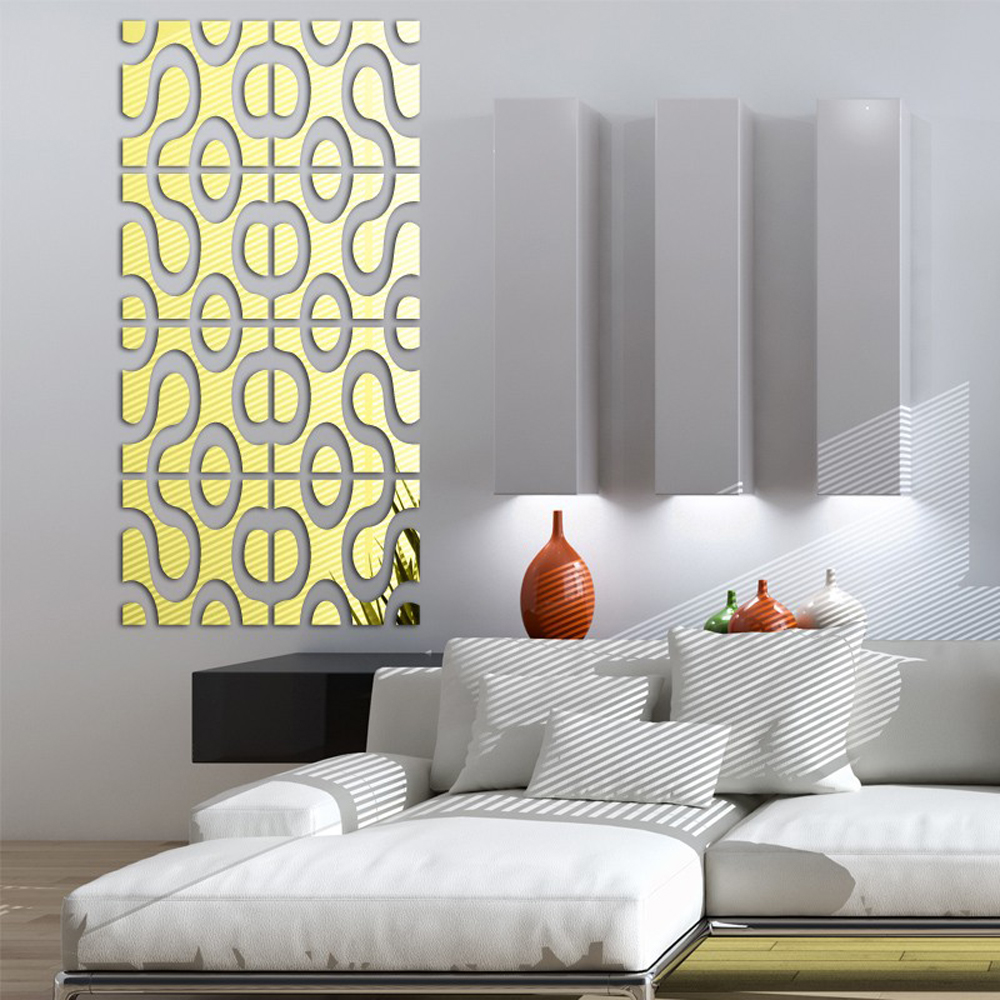 Modern design diy acrylic mirror wall art home decor 3d wall modern design diy acrylic mirror wall art home decor 3d wall sticker for living room tv sofa background decals stickers in hair clips pins from beauty amipublicfo Images